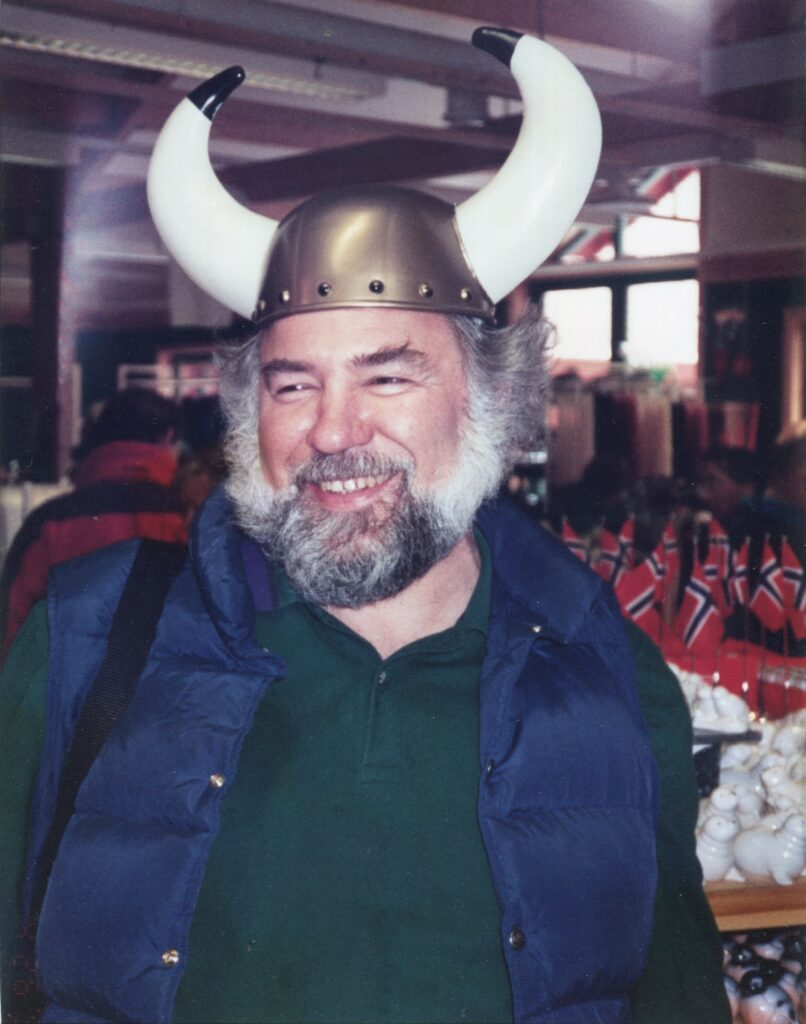 Ettlinger in Viking mode at an ISO meeting in Oslo.